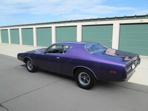 1972 Dodge Charger Plum Crazy Purple Stock 72cliadz For