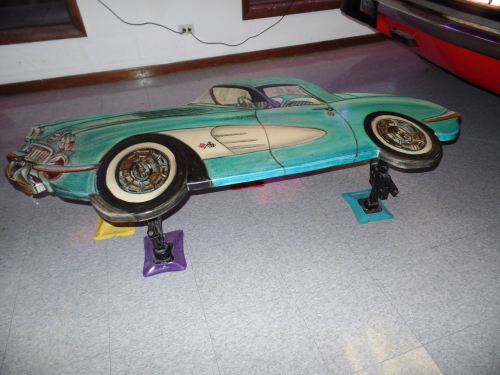 Used 1958 Chevrolet Corvette COFFEE TABLE-BY ACTOR/ARTIST MITCH LEVINE | Mundelein, IL