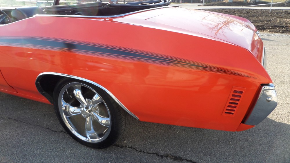 Used 1971 Chevrolet Chevelle CONVERTIBLE FUN FROM FLORIDA-HUGGER ORANGE-SEE VIDEO | Mundelein, IL