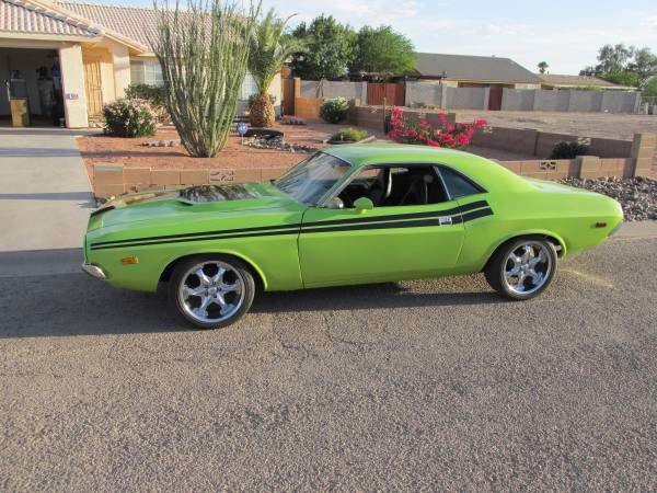 Used 1973 Dodge Challenger RT Tribute-SUB LIME-RUST FREE FROM ARIZONA-SEE VIDEO | Mundelein, IL