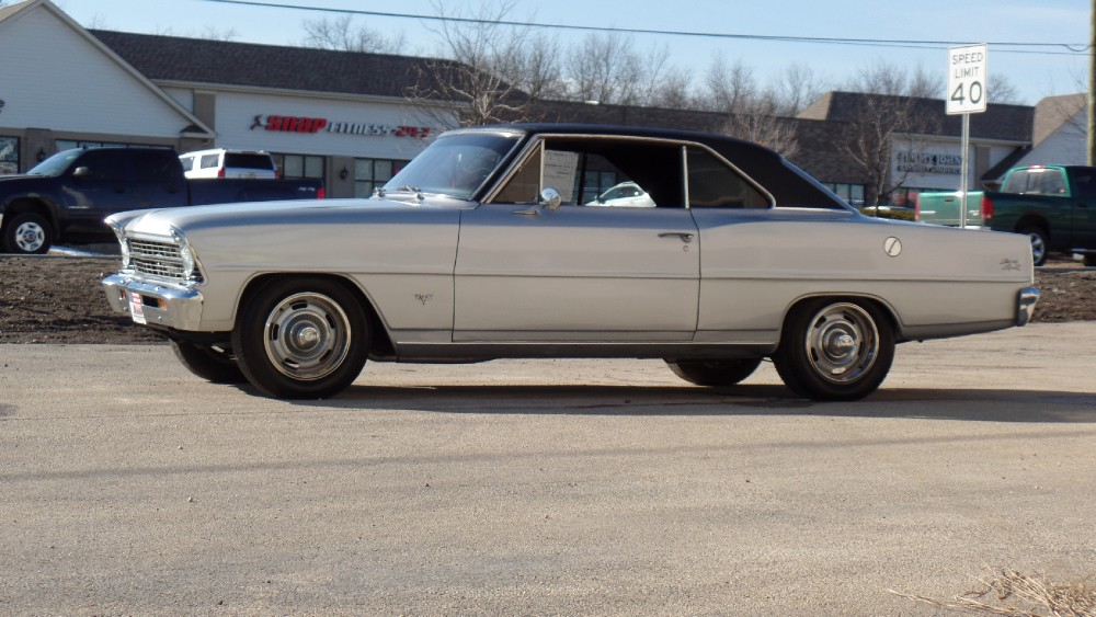 Used 1967 Chevrolet Nova SS LOOK-RESTORED NEW CORTEZ SILVER PAINT-FROM THE SOUTH-NO RUST-NEW AC-SEE | Mundelein, IL