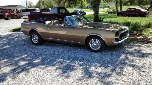 Used 1967 Chevrolet Camaro SOLID GOLD CONVERTIBLE! REAL DEAL RS! | Mundelein, IL