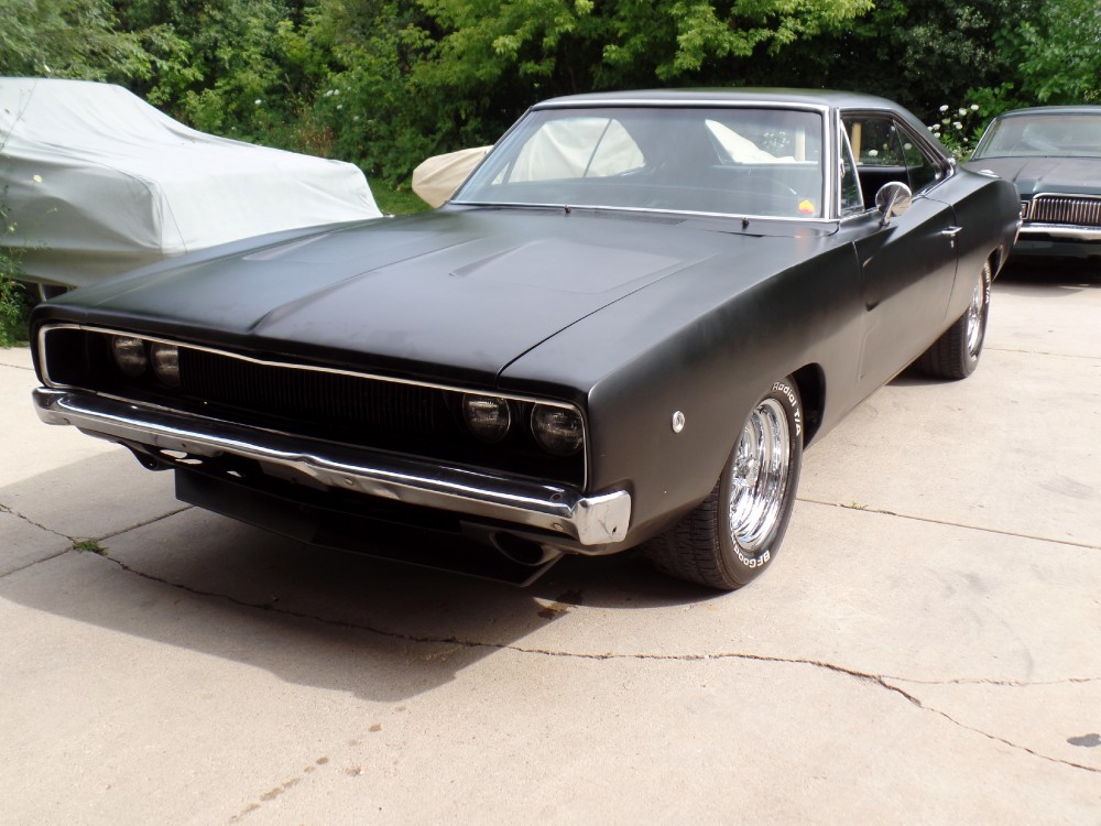 Used 1968 Dodge Charger BIG, BAD, BLACK STREET BRUISER! 500 MILES ON FRESHLY BUILT 440!-SEE VIDEO | Mundelein, IL