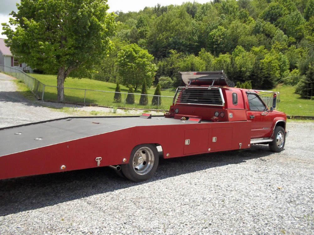 1994 chevrolet c3500 hd car hauler ramp tow truck flatbed for Used tow motors for sale