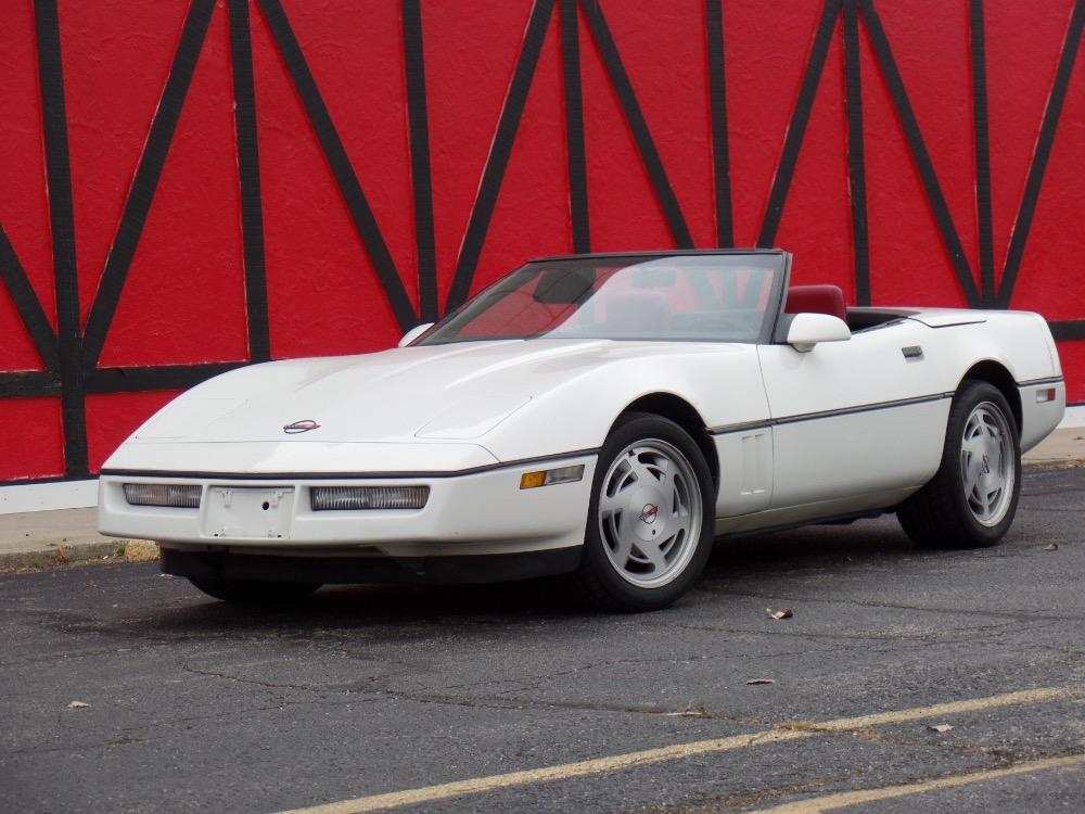 Used 1988 Chevrolet Corvette WHITE CONVERTIBLE-LOW MILES | Mundelein, IL