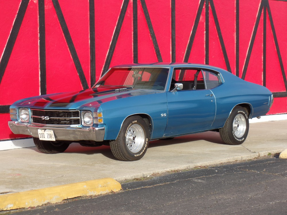 Used 1971 Chevrolet Chevelle 375 HP-SS Look-2nd Owner-MARINA BLUE-SEE VIDEO NOW | Mundelein, IL