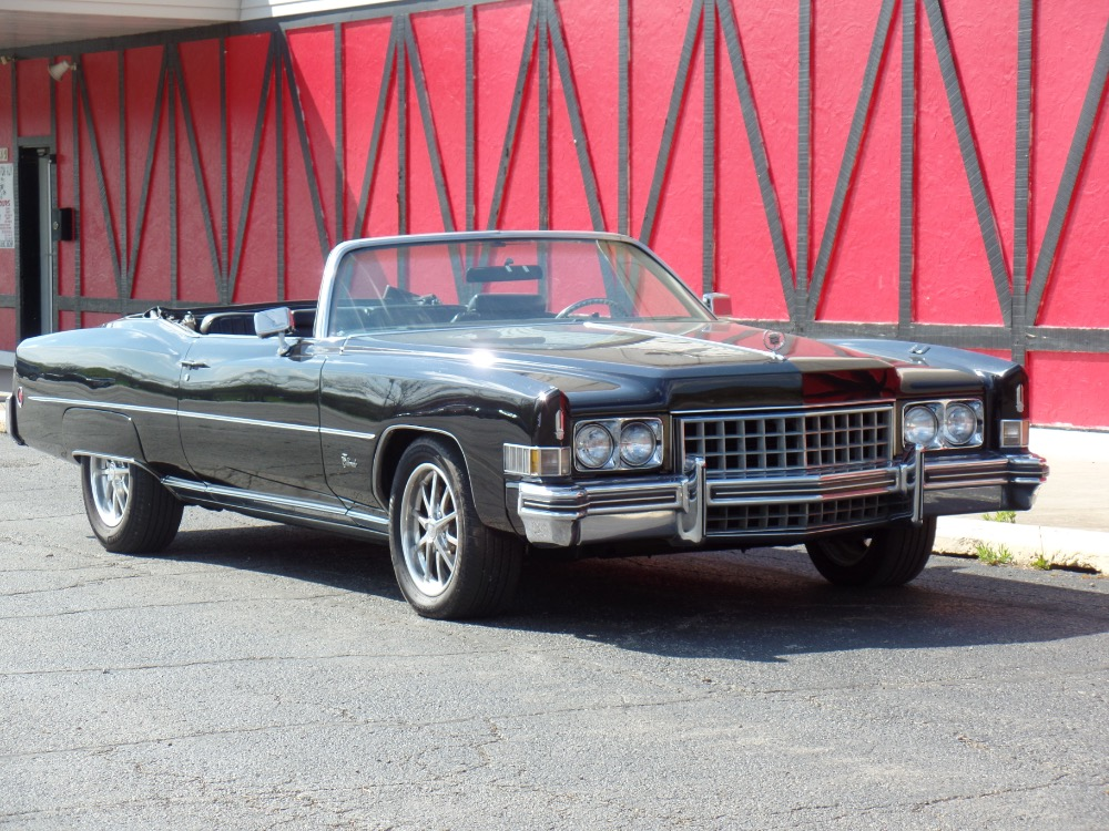 Used 1973 Cadillac El Dorado -TRIPLE BLACK CONVERTIBLE-LOW MILES-BIG BOSS CAR IS FROM CALIFORNIA | Mundelein, IL