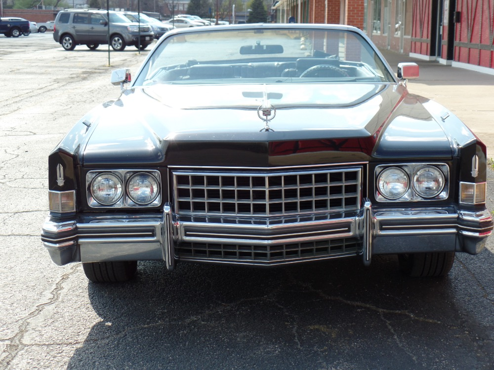 Used 1973 Cadillac El Dorado -TRIPLE BLACK CONVERTIBLE-LOW MILES-BIG BOSS CAR IS FROM CALIFORNIA | Mundelein, IL