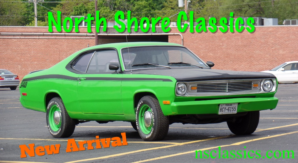 1972 plymouth duster sub lime green 340 engine driver quality affordable mopar see video stock. Black Bedroom Furniture Sets. Home Design Ideas