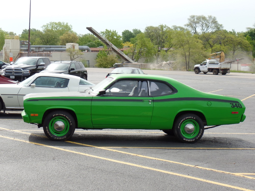 1972 Plymouth Duster Sub Lime Green 340 Engine Driver
