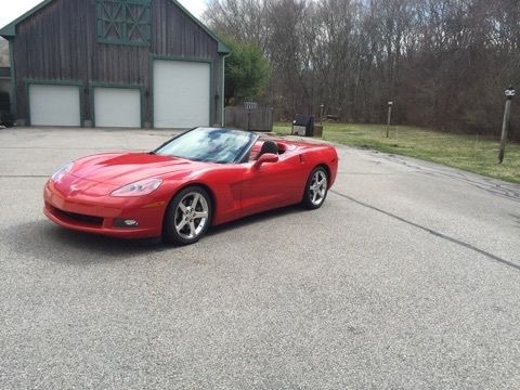 Used 2005 Chevrolet Corvette C6-LS2-STRIKING RED CONVERTIBLE-VERY GOOD CONDITION | Mundelein, IL