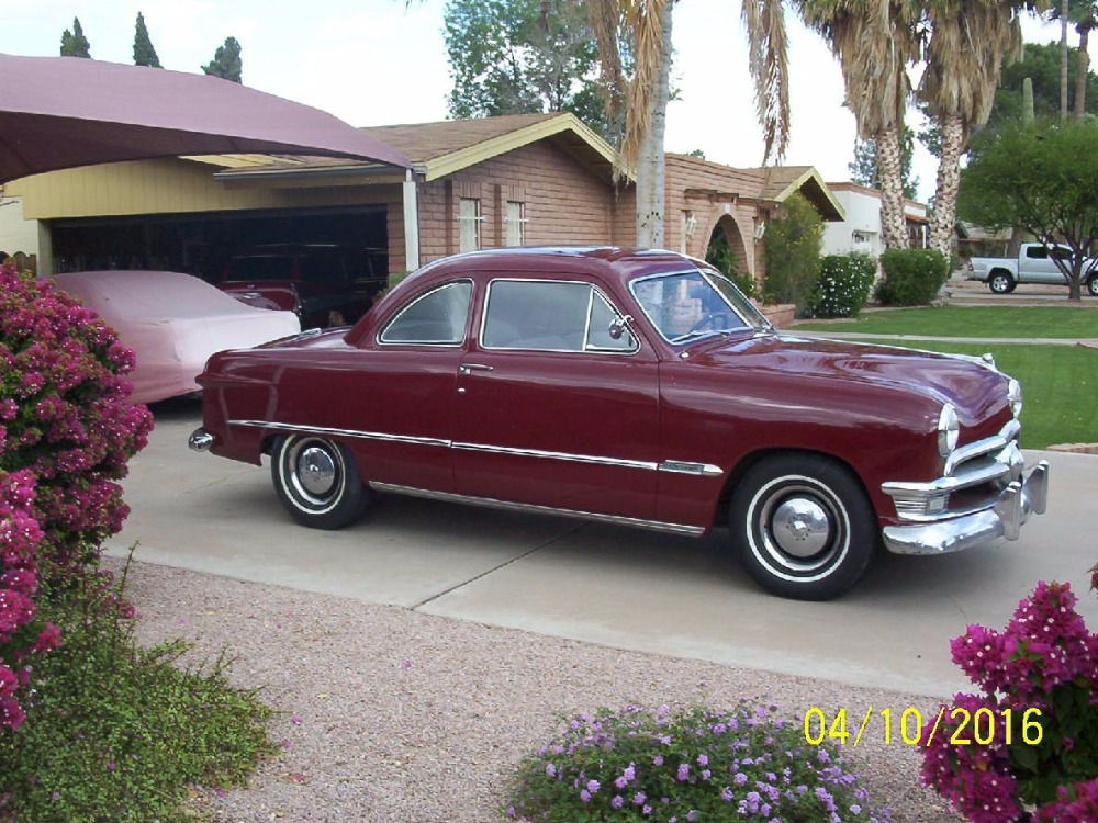 1950 Ford Deluxe 2 Door Coupe Flathead V 8 New Interior