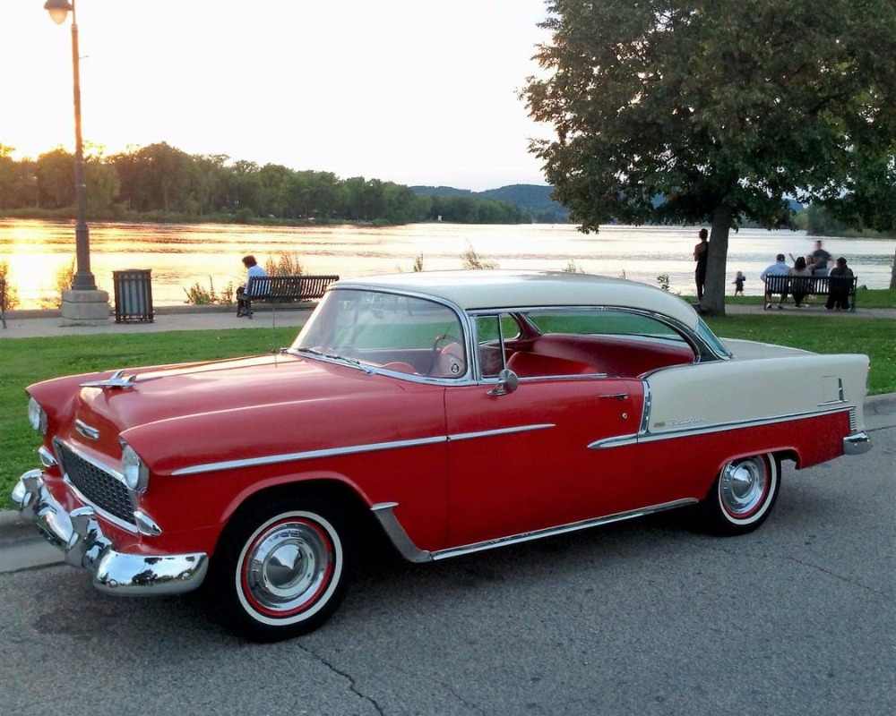 Used 1955 Chevrolet Bel Air - 2-DOOR HARDTOP- 327 V8- 4000 MILES ON ENGINE | Mundelein, IL