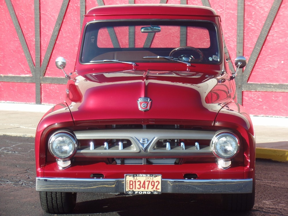 1953 Ford Pickup F100 Sweet Inferno Red Pickup With Custom