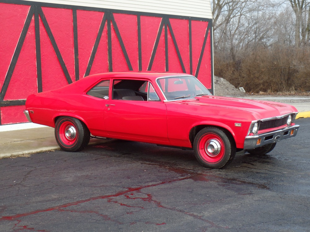 Used 1968 Chevrolet Nova -NEW VIPER RED PAINT-383 STROKER-FROM TEXAS-COPO LOOK-SOLID- SEE VIDEO | Mundelein, IL
