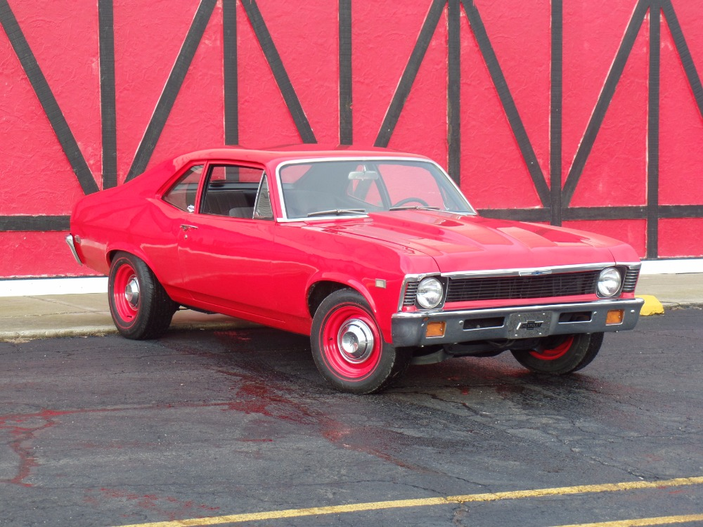 Used 1968 Chevrolet Nova -NEW VIPER RED PAINT-383 STROKER-FROM TEXAS-COPO LOOK-SOLID- SEE VIDEO   Mundelein, IL