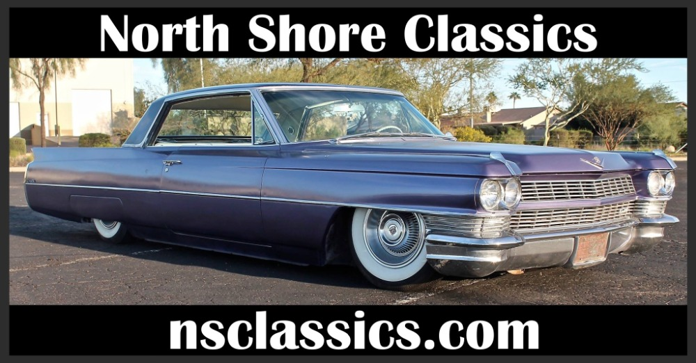 Used 1964 Cadillac DeVille - SWEET NEW GLOSS BLACK WITH VIOLET SPARKLE EXTERIOR- 429 V8 WITH AIR RIDE | Mundelein, IL