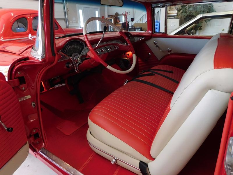 Used 1955 Chevrolet Bel Air -COMPLETE RESTORATION-VIPER RED SHOW CAR WINNER-400+ HP | Mundelein, IL