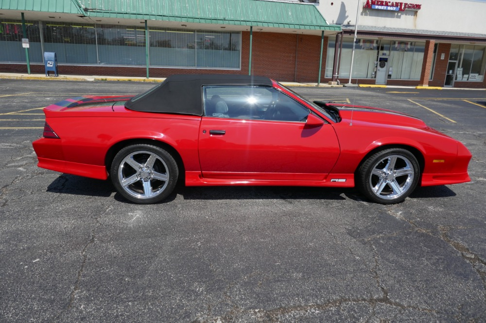 1992 chevrolet camaro rs convertible with new red paint. Black Bedroom Furniture Sets. Home Design Ideas