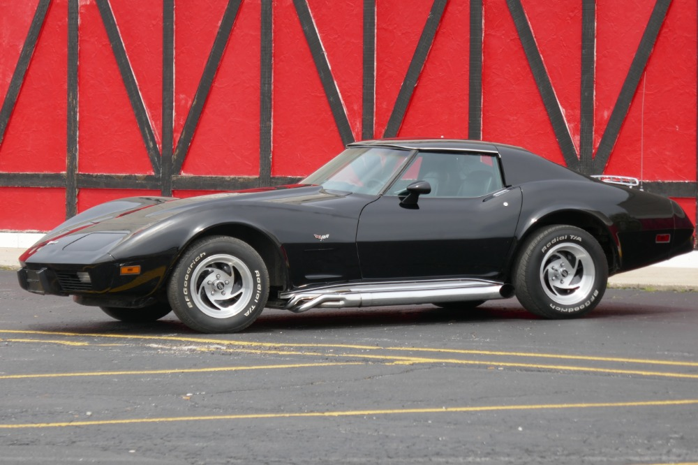 Used 1977 Chevrolet Corvette -BLACK ON BLACK-SIDE PIPES-ONLY 51,211 ORIGINAL MILES- SEE VIDEO | Mundelein, IL
