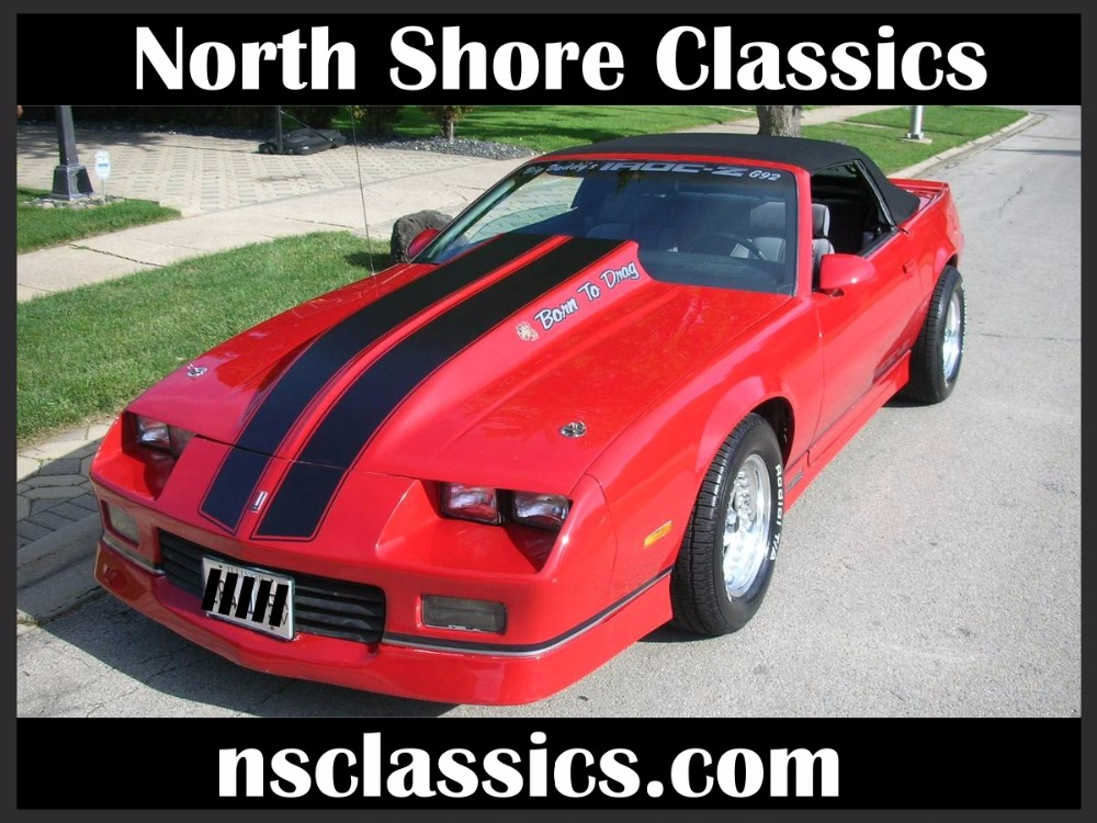 Used 1988 Chevrolet Camaro -IROC Z28- FUEL INJECTED 5.7 L V8 - CONVERTIBLE | Mundelein, IL