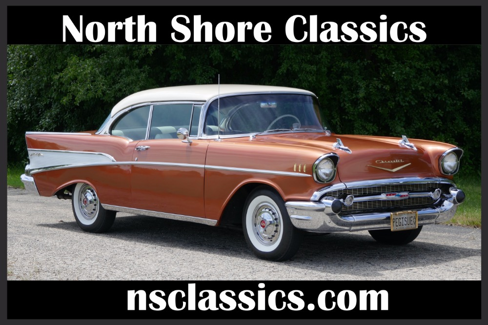 Used 1957 Chevrolet Bel Air -BEAUTIFUL SIERRA GOLD CLASSIC CRUISER- 283/2-SPEED AUTO-SEE VIDEO | Mundelein, IL
