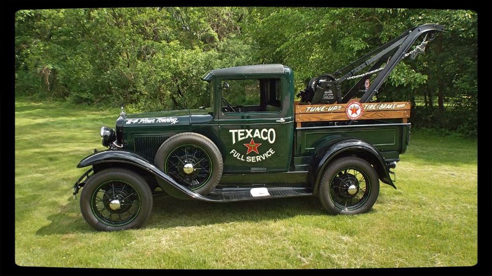 1930 ford model a pick up tow truck ready for show stock 30krcvo for sale near mundelein il. Black Bedroom Furniture Sets. Home Design Ideas