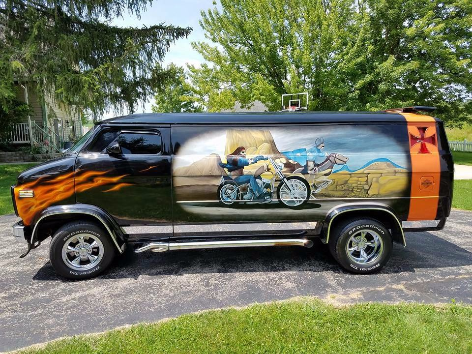 Used 1977 Chevrolet Van Custom G20 -ONE OF A KIND- 8 INCH CHOP TOP - PETE JACKSON GEAR DRIVE | Mundelein, IL