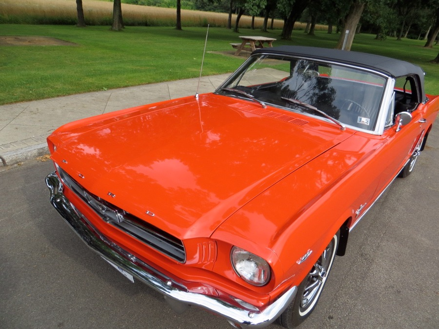Used 1965 Ford Mustang -POPPY RED CONVERTIBLE PONY- NUMBERS MATCHING- | Mundelein, IL
