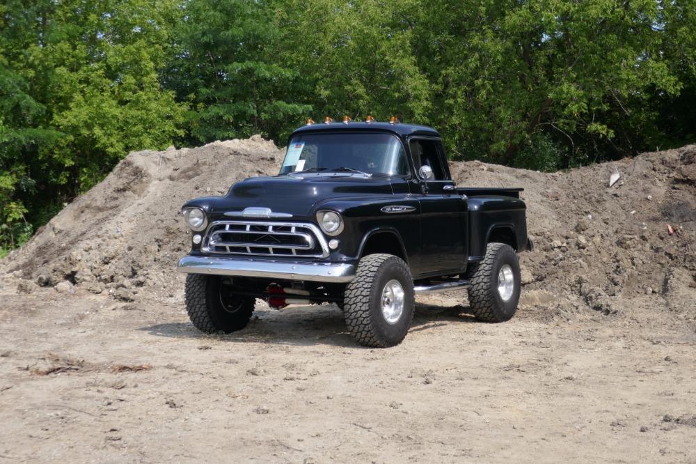 Used 1957 Chevrolet 3100 -FRAME OFF RESTORED-CUSTOM 4X4 STEPSIDE- SEE VIDEO | Mundelein, IL