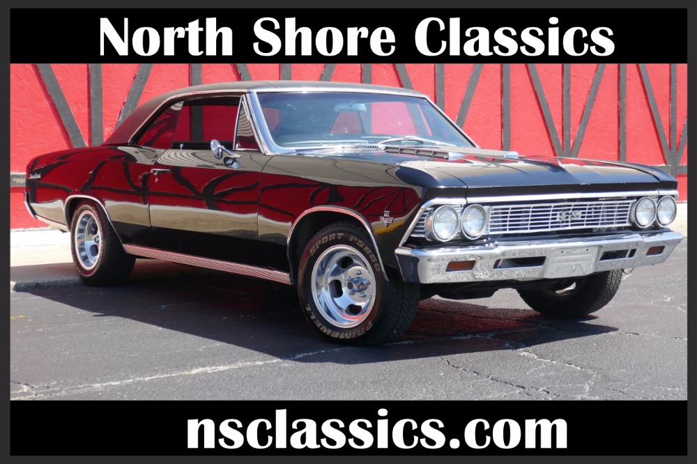 Used 1966 Chevrolet Chevelle -TRIPLE BLACK 327/ AUTOMATIC V8- REDUCED PRICE-  SEE VIDEO | Mundelein, IL