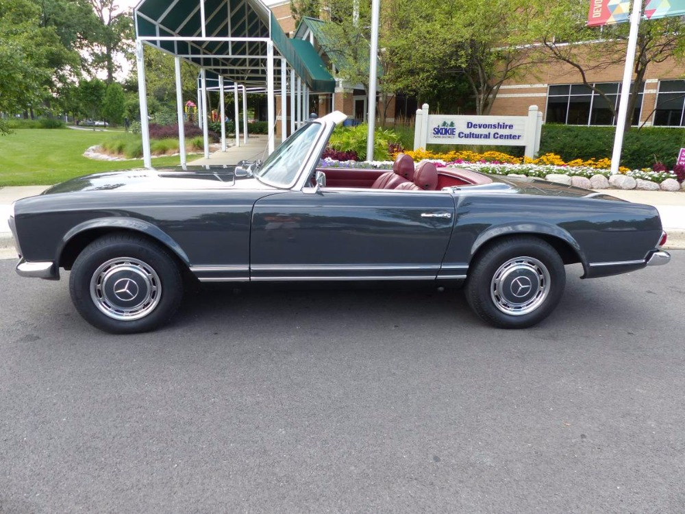 1969 mercedes benz 280sl convertible with pagoda hard for Mercedes benz hardtop convertible 2014