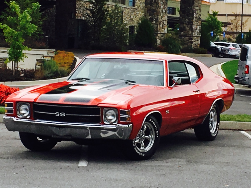 1971 Chevrolet Chevelle Ss Trim Nice Red Paint Great Reliable