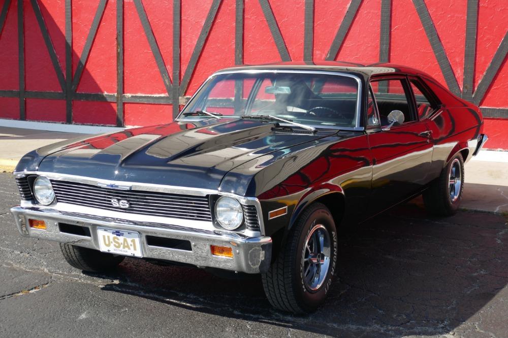 Used 1971 Chevrolet Nova -SS Trim-NEW BLACK PAINT-4 SPEED TRANS- SEE VIDEO   Mundelein, IL