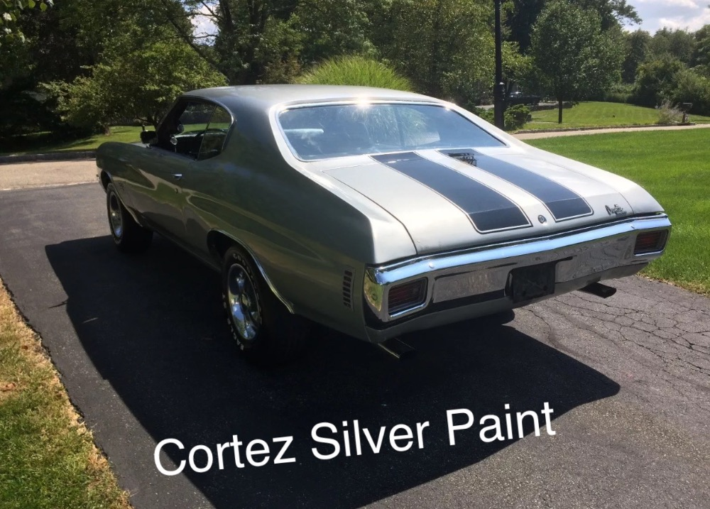 Used 1970 Chevrolet Chevelle -Cortez Silver-BIG BLOCK 396-Manual 4 speed and 12 bolt | Mundelein, IL