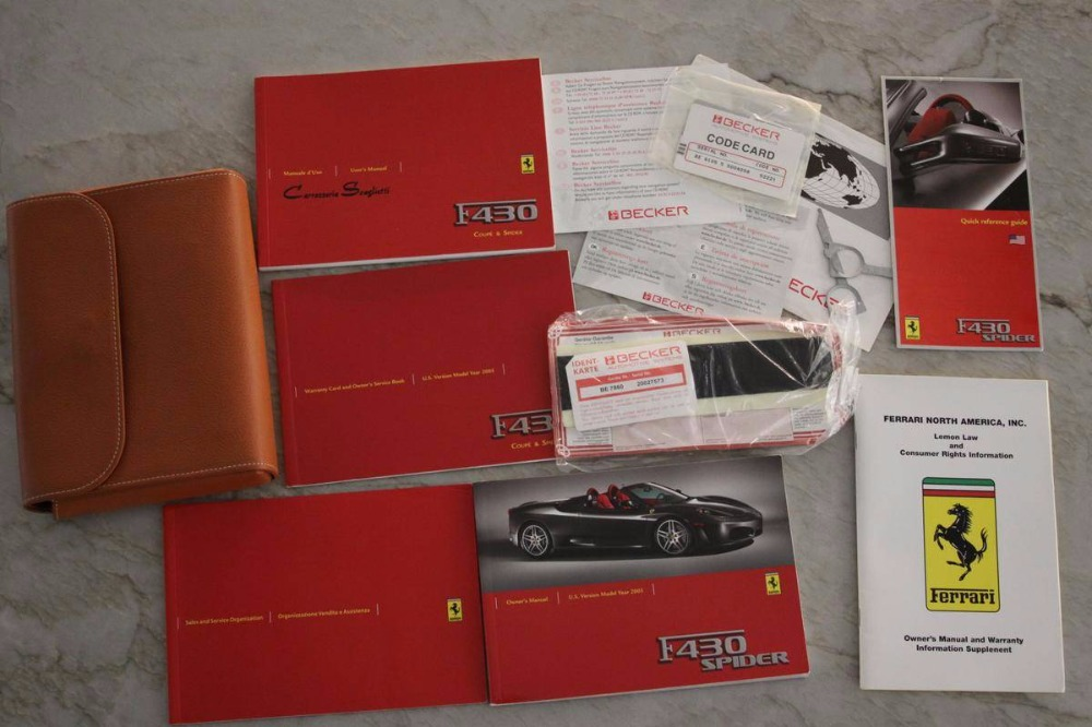Used 2005 Ferrari 430 -Spider in Rosso Scuderia (Ferrari racing red) | Mundelein, IL