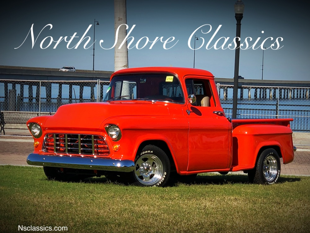 Used 1957 Chevrolet Pickup 3100-HUGGER ORANGE- PICKUP- CUSTOM BED - FRAME OFF RESTORED - SEE VIDEO | Mundelein, IL