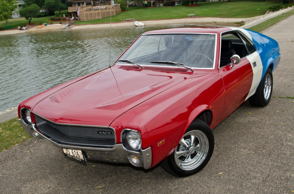 Used 1969 AMC AMX - RED WHITE AND BLUE MUSCLE 410HP- | Mundelein, IL