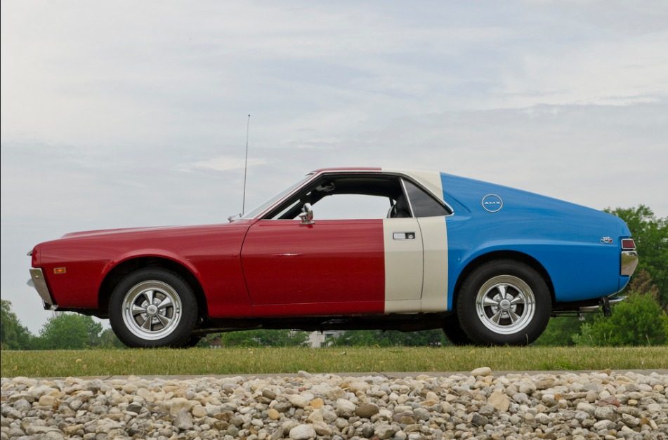Red White And Blue Auto Sales >> 1969 Amc Amx Red White And Blue Muscle 410hp Stock 69401cv For