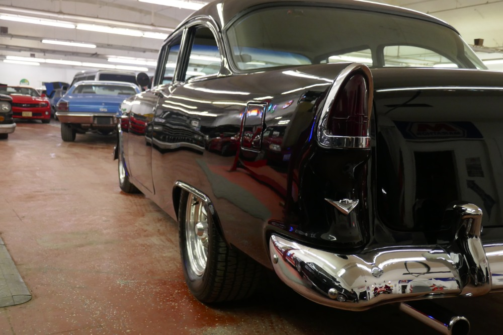 Used 1955 Chevrolet Bel Air 150 Sedan-NICE BLACK PAINT-FRESH DEL RAY INTERIOR- BUILT 350 V8 | Mundelein, IL
