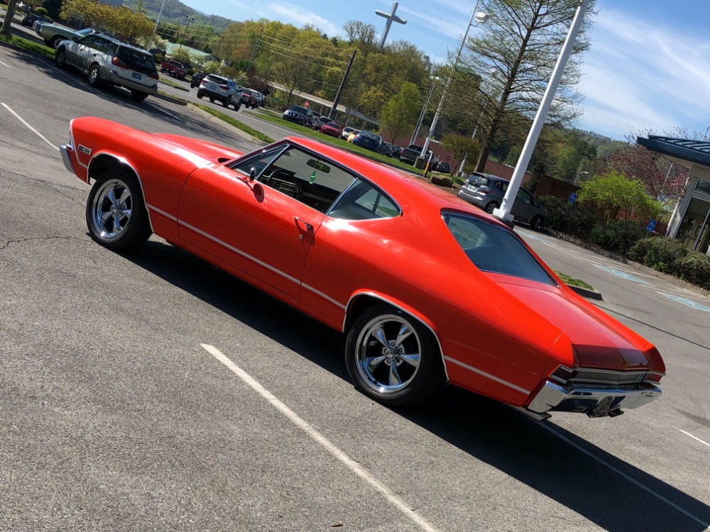 1968 chevrolet chevelle new hugger orange paint rust free alabama muscle car see video stock. Black Bedroom Furniture Sets. Home Design Ideas