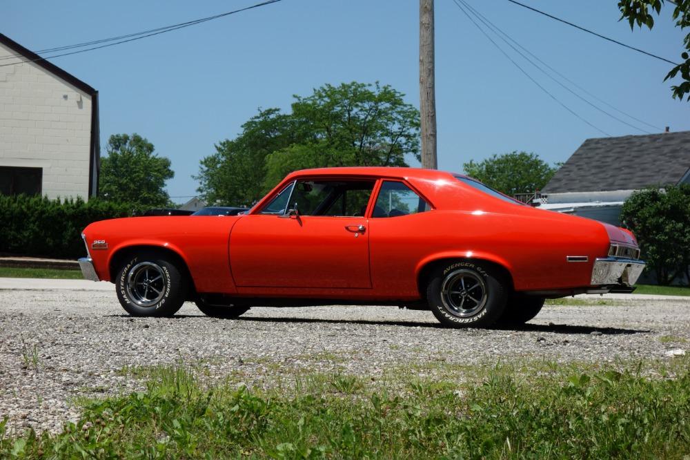 Orange 1969 Camaro SS RS 350 Garage Muscle Car Art Print
