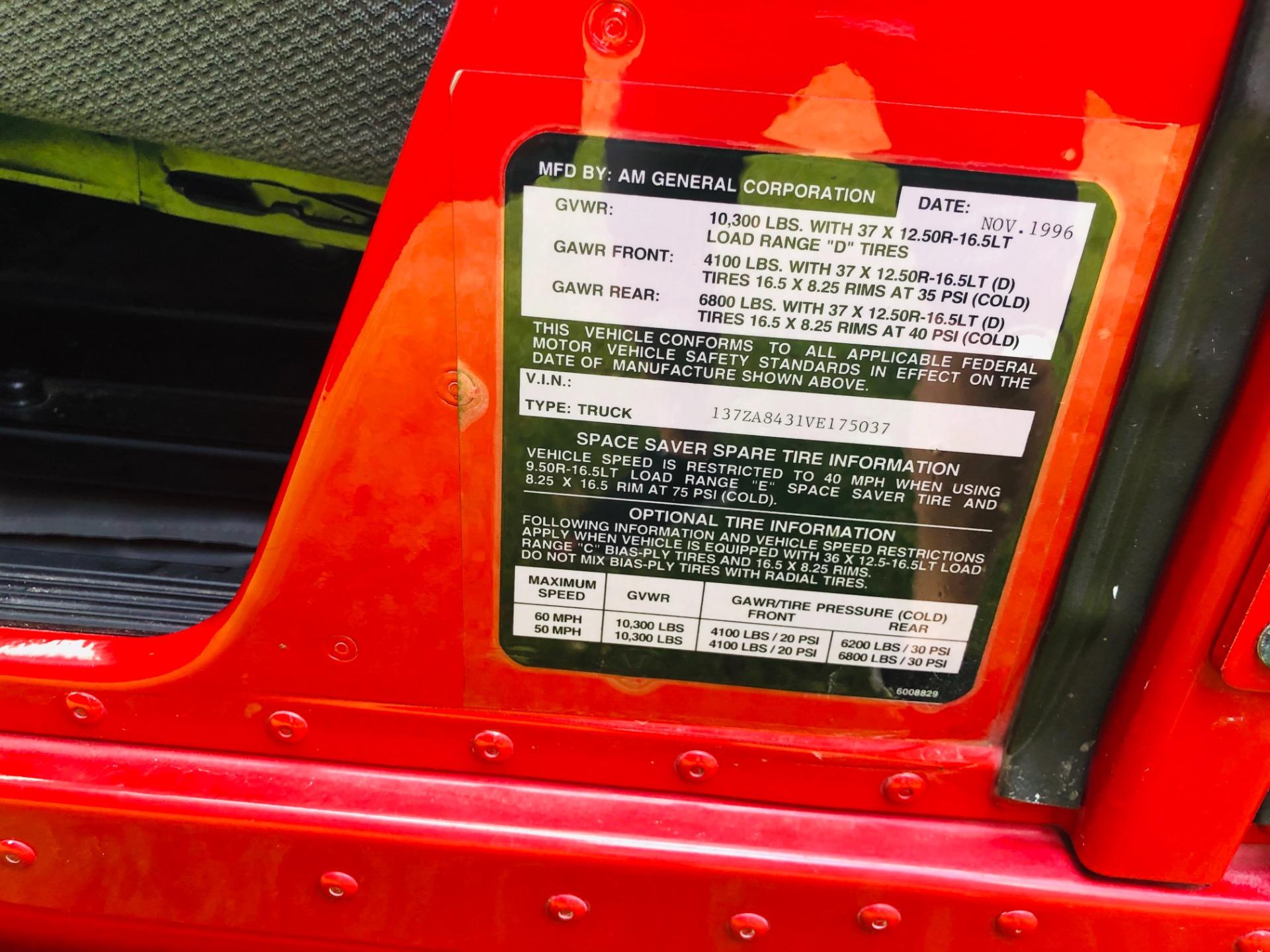 Used 1997 Hummer H1 -DUAL SKYLIGHTS-80k MILES TWIN TURBO DIESEL LUGGAGE RACK-VERY CLEAN- | Mundelein, IL