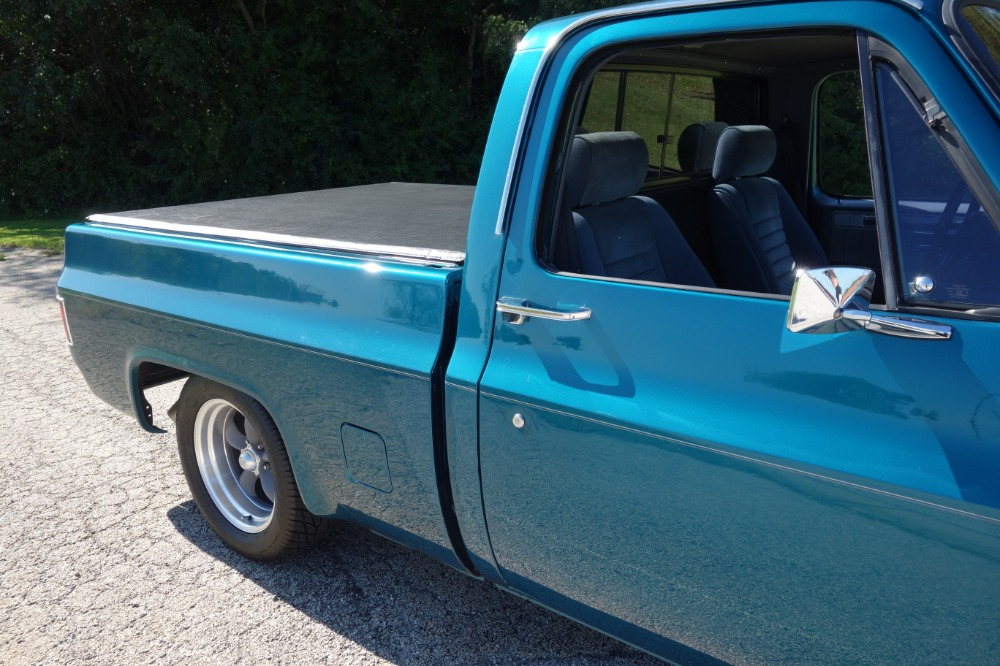 Used 1987 Chevrolet Pickup -C-10 - DARK TEAL PICKUP -RIDE TECH SUSPENSION- FUEL INJECTED- SEE VIDEO | Mundelein, IL