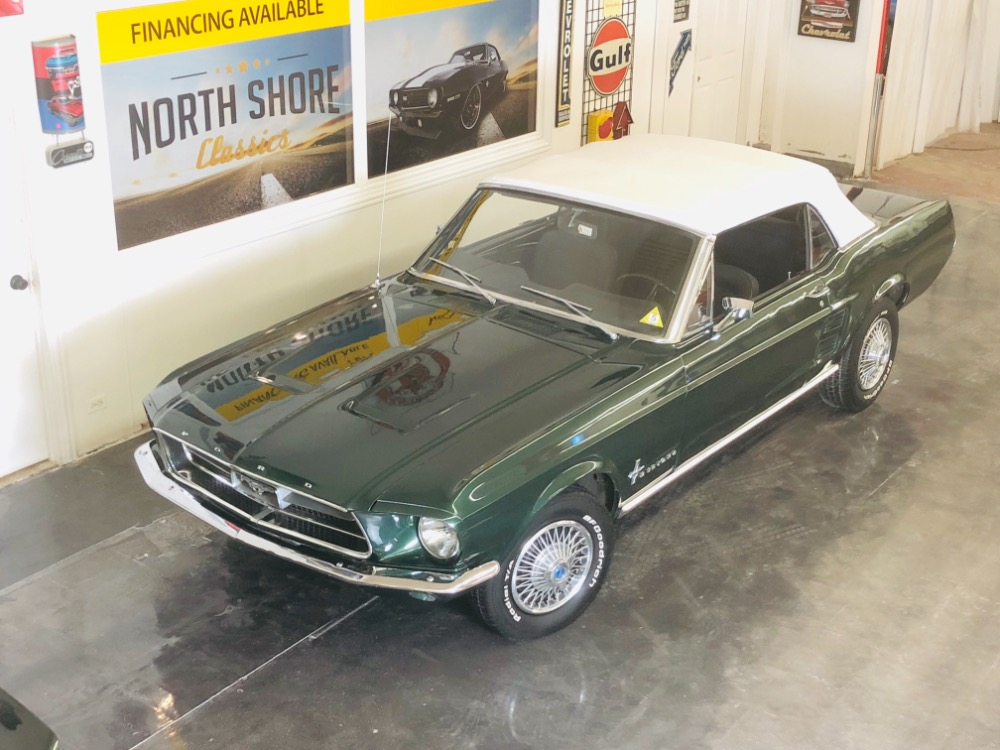 Used 1967 Ford Mustang 289 C Code Power Top/PS Automatic Highland Green-VIDEO | Mundelein, IL