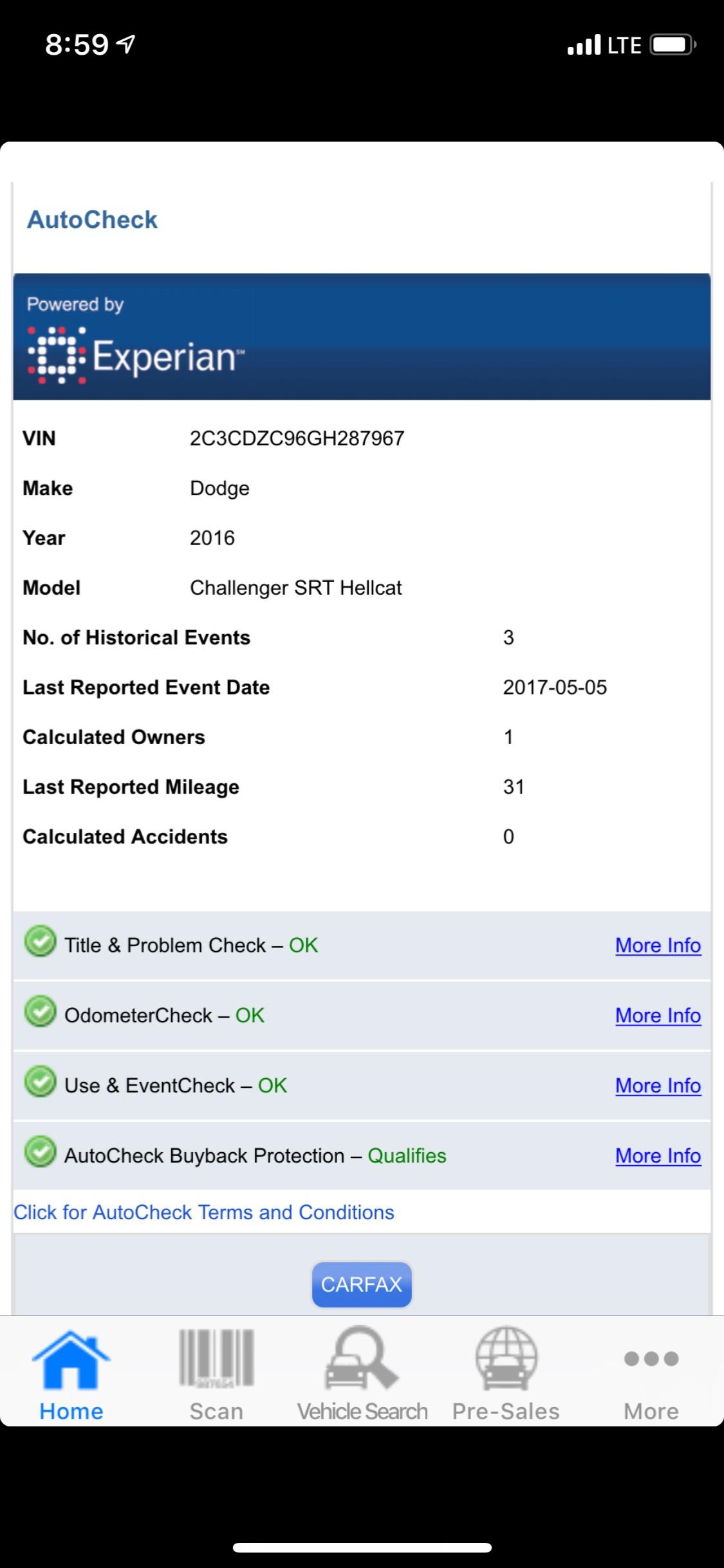 Used 2016 Dodge Challenger -HELLCAT-1 OWNER-NO HAGGLE PRICE-BELOW MARKET VALUE-   Mundelein, IL