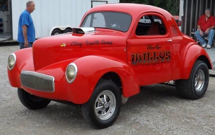 Used 1939 Willys Hot Rod / Street Rod -PRICE DROP!!-HONKIN' WILLYS - VINTAGE DRAG CAR- '41 TILT FRONT END- BLOWN  | Mundelein, IL