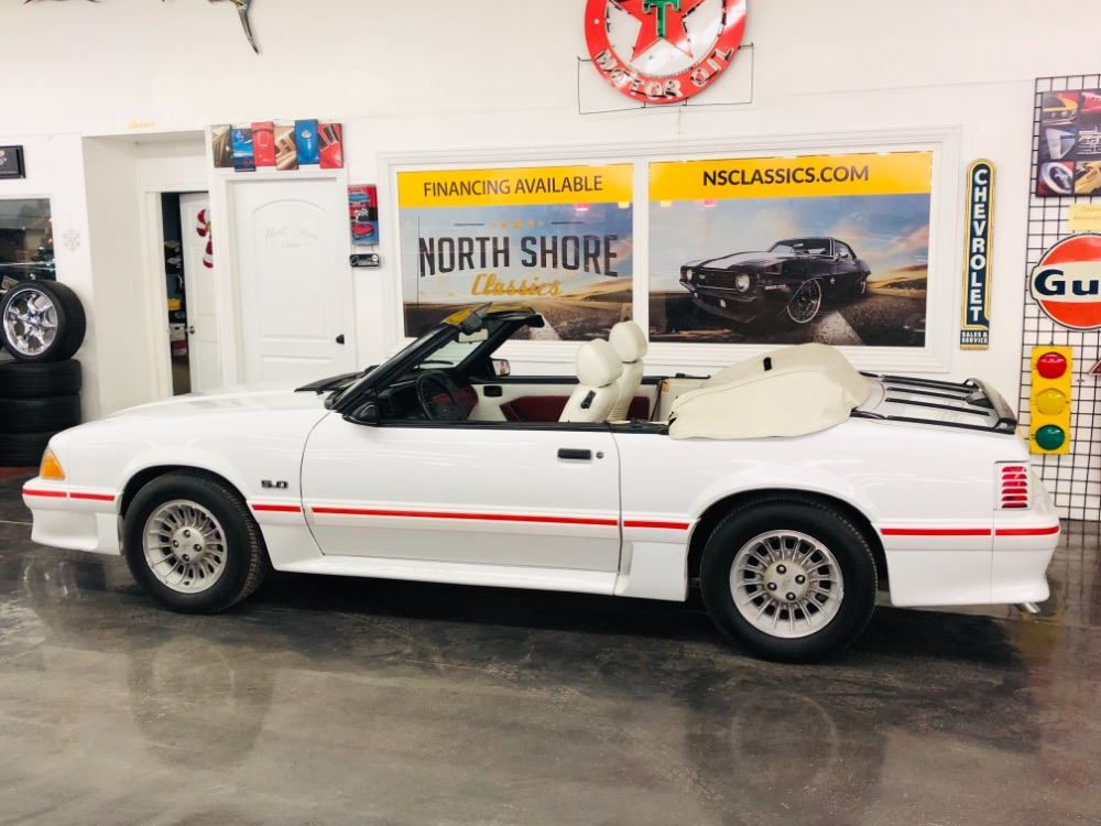 Used 1987 Ford Mustang -GT CONVERTIBLE TRIPLE WHITE ONLY 17k MILES-VIDEO | Mundelein, IL