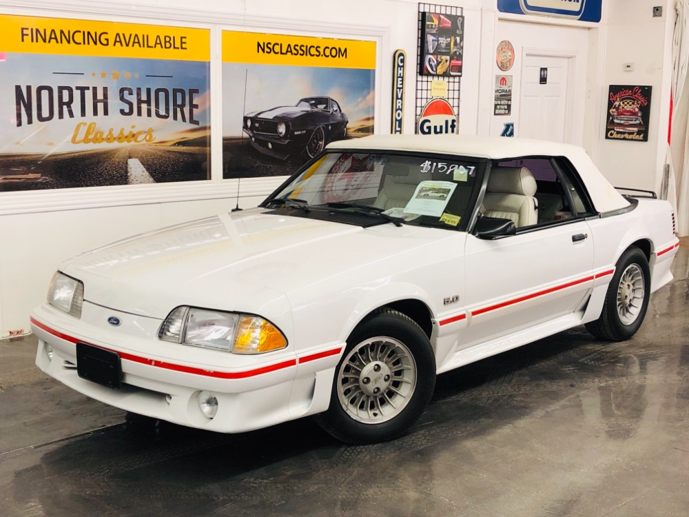 Used 1987 Ford Mustang Gt Convertible Triple White Only 17k Miles Video Mundelein