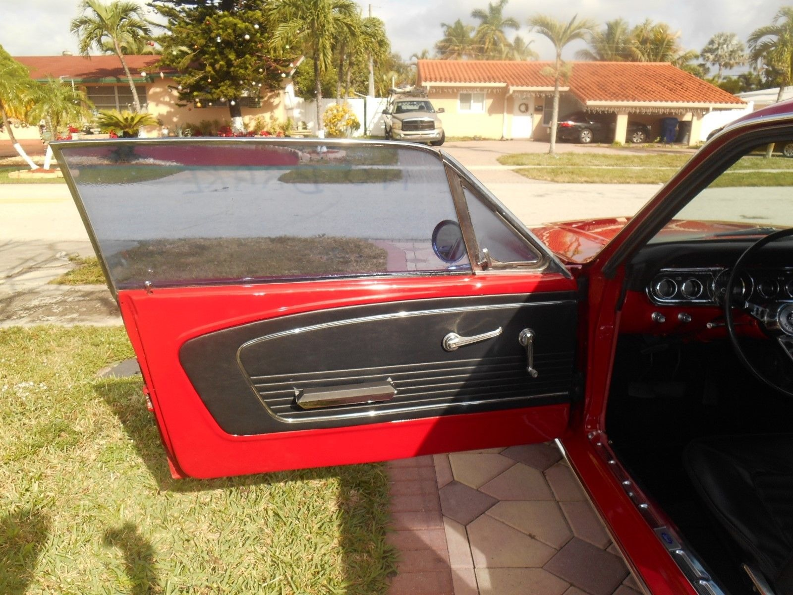 Used 1966 Ford Mustang -DELUXE CANDY APPLE RED-289 ENGINE WITH MANUAL TRANS-FLORIDA PONY CLASSIC- | Mundelein, IL